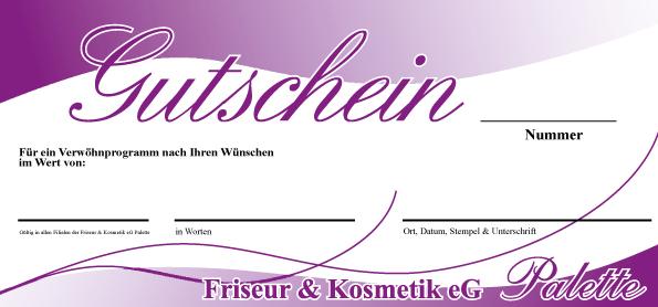 "Fabulous Gutschein - Friseur & Kosmetik eG ""Palette"" | Freude schenken SY98"
